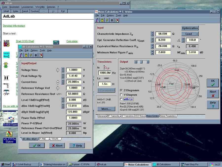 Elektroniksoftware AdLab (Toolsammlung für Elektrotechniker)